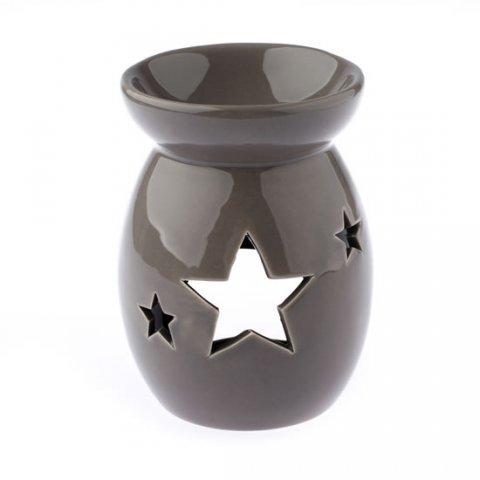 neuveden: Keramická aromalampa s hvězdou - hnědá