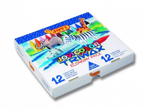 neuveden: JOVI voskovky trojhranné - ekonomické balení 300 ks, 12 barev