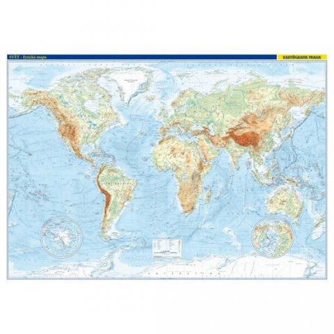 neuveden: Svět – fyzická mapa 1 : 22 000 000