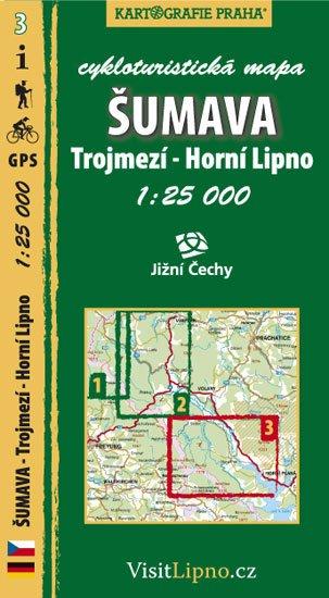 neuveden: Šumava - Trojmezí, Horní Lipno - cykloturistická mapa č. 3 /1:25 000