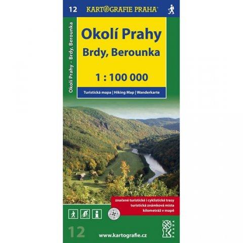 neuveden: 1:100T (12)-Okolí Prahy,Brdy,Berounka (turistická mapa)