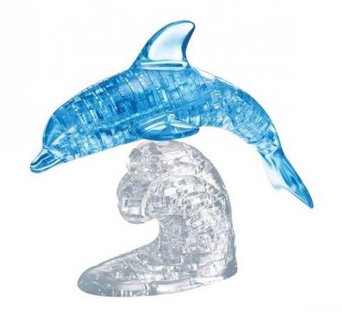 neuveden: Skákající delfín: 3D Crystal puzzle 95 dílků