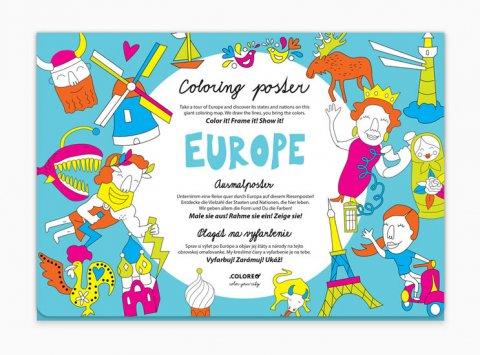neuveden: Europe - Plakát omalovánka