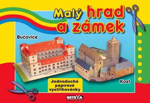 neuveden: Malý hrad a zámek - Jednoduché papírové vystřihovánky