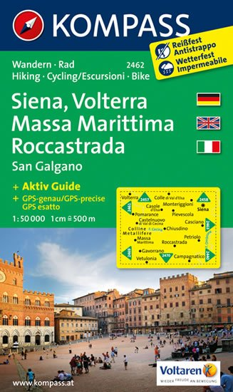 neuveden: Siena,Volterra,Massa Marittima 2462 / 1:50T NKOM