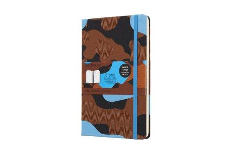 neuveden: Moleskine: Blend zápisník linkovaný Camouflage modrý L