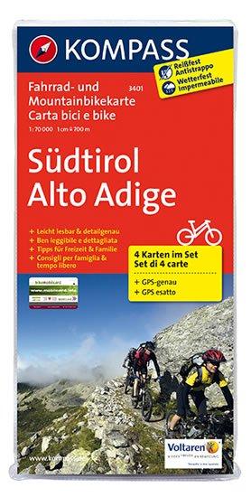 neuveden: Südtirol 3401 , 4 mapy / 1:70T KOM