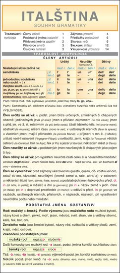 kolektiv autorů: ITALŠTINA  souhrn gramatiky
