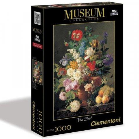 neuveden: Clementoni Puzzle Museum - Van Dael-Vaso di fiori, 1000 dílků