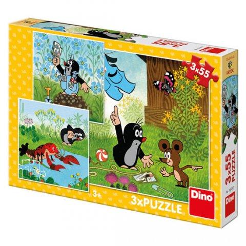 neuveden: Krtek a kalhotky: puzzle 3x55 dílků