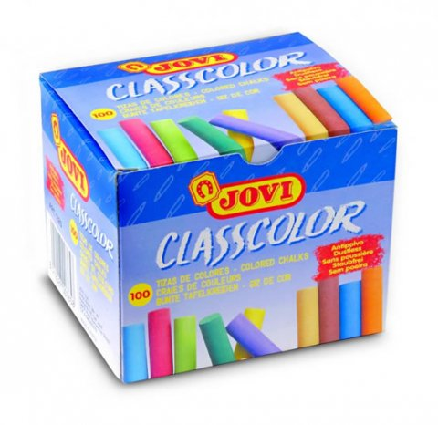 neuveden: JOVI křídy školní 100 kusů barevné