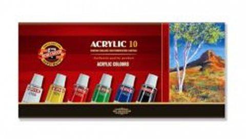 neuveden: Koh-i-noor souprava akrylovych barev 10 x 16 ml