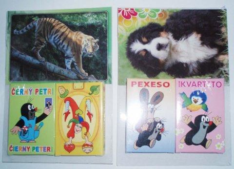 neuveden: Paket kartové hry - různé motivy + pohlednice