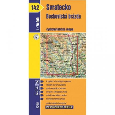neuveden: 1: 70T(142)-Svratecko, Boskovická brázda (cyklomapa)