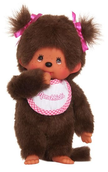 neuveden: Monchhichi 20cm - holka s culíky (Mončiči)
