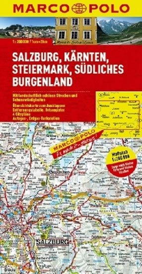neuveden: Rakousko - Salzburg/mapa