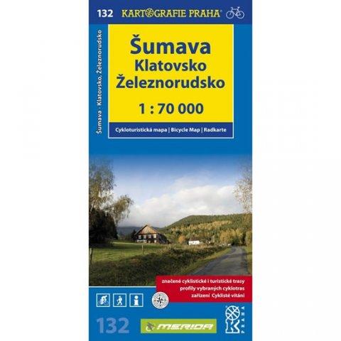 neuveden: 1: 70T(132)-Šumava/Klatovsko,Železnorudsko (cyklomapa)