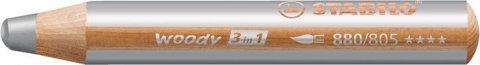 neuveden: Pastelka STABILO Woody 3v1 stříbrná