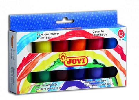 neuveden: JOVI temperové barvy 12x15ml v kelímku