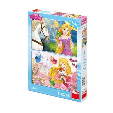 Disney Walt: Princezny: Portréty - Puzzle 2x66