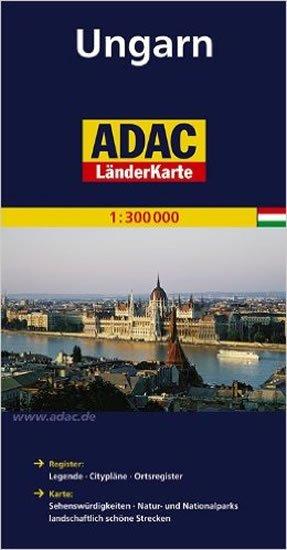 kolektiv: Maďarsko/mapa 1:300T ADAC