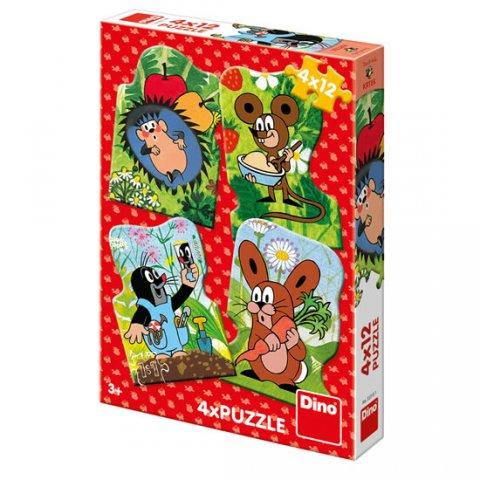 neuveden: Krtek a kamarádi: puzzle 4x12 dílků