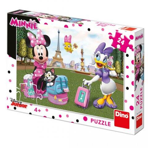 neuveden: Minnie v Paříži: puzzle 24 dílků