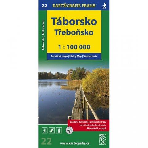 neuveden: 1:100T (22)-Táborsko,Třeboňsko (turistická mapa)