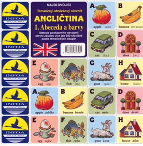kolektiv autorů: Najdi dvojici - Angličtina - 1. Abeceda a barvy
