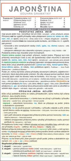 Zinková Zdeňka: JAPONŠTINA  souhrn gramatiky