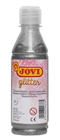 neuveden: JOVI temperová barva glittrová 250 ml v lahvi stříbrná