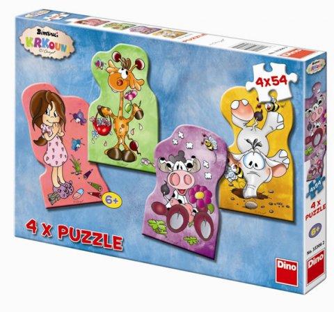 neuveden: Krkouni - puzzle 4 motivy v balení 4x54