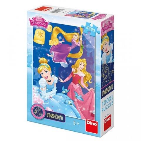 neuveden: Disney Princezny - Oslava: svítící neonové puzzle 100XL dílků