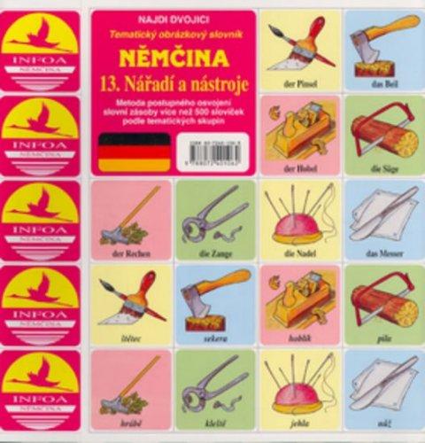 neuveden: Najdi dvojici - Němčina - 13. Nářadí a nástroje