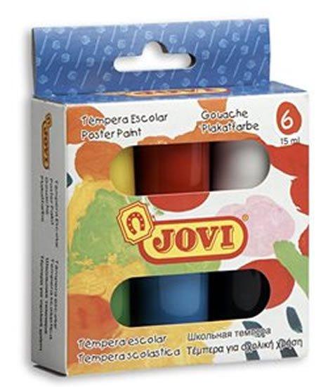 neuveden: JOVI temperové barvy 6x15ml v kelímku