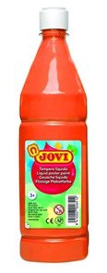 neuveden: JOVI temperová barva 1000ml v lahvi oranžová
