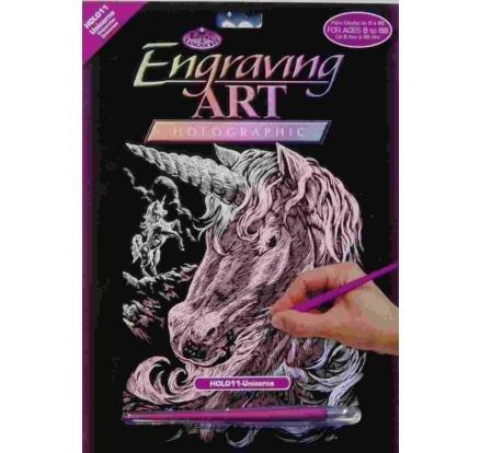neuveden: ArtLover Sada Škrabací obrázek - holografický Royal 20,3 x 25,4 cm/mix 3 mo