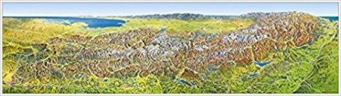 neuveden: Alpy-panorama/nástěn.mapa plast.tubus