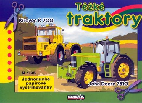 neuveden: Těžké traktory - vystřihovánky