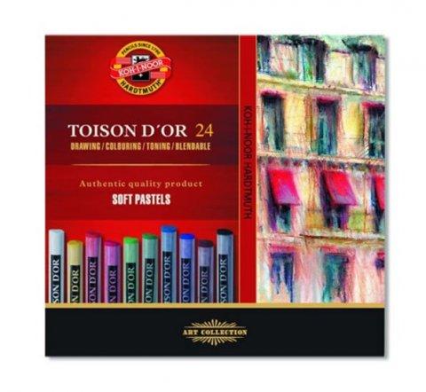 neuveden: Koh-i-noor křídy (pastely) prašné umělcké 10 mm Toison D´or souprava 24 ks