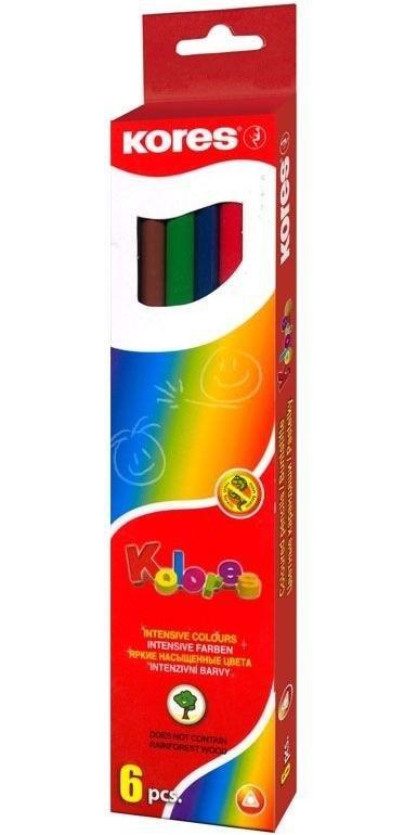 neuveden: Trojhranné pastelky, 3mm, s ořezávátkem