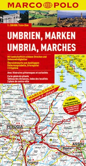 neuveden: Itálie - Umbrie,Marches/mapa