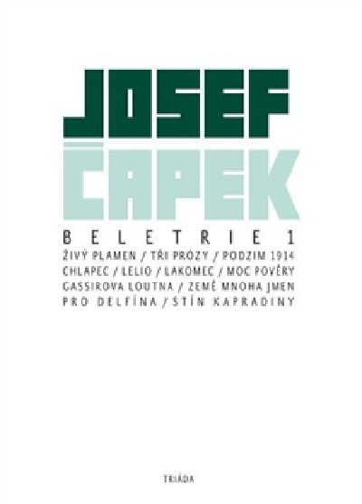 Čapek Josef: Beletrie 1