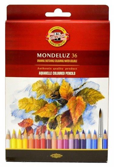 neuveden: Koh-i-noor pastelky MONDELUZ akvarelové souprava 36 ks v papírové krabičce