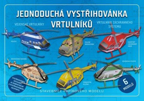 neuveden: Jednoduchá vystřihovánka vrtulníků - Stavebnice papírového modelu