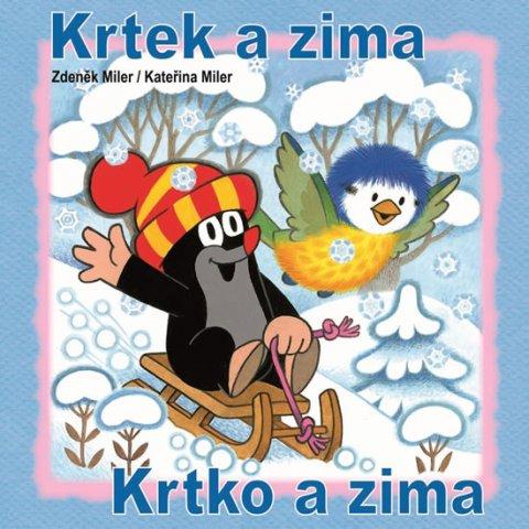 Miler Zdeněk, Miler Kateřina: Krtek a zima - omalovánky čtverec