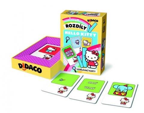 neuveden: Vzdělávací karty - Rozdíly - Hello Kitty