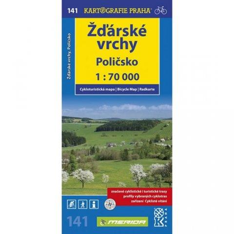 neuveden: 1: 70T(141)-Žďárské vrchy,Poličsko (cyklomapa)