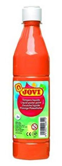 neuveden: JOVI temperová barva 500ml v lahvi oranžová
