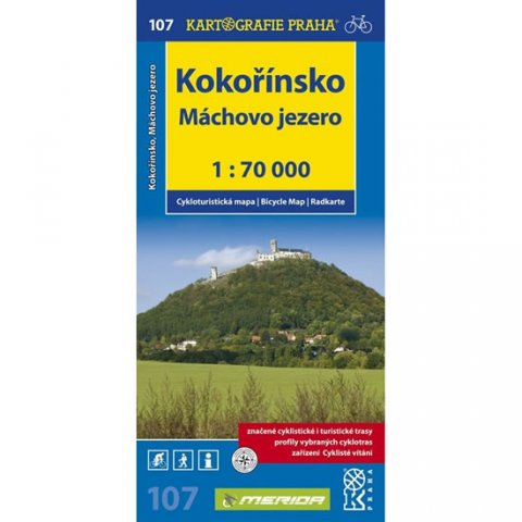 neuveden: 1: 70T(107)-Kokořínsko,Máchovo jezero (cyklomapa)